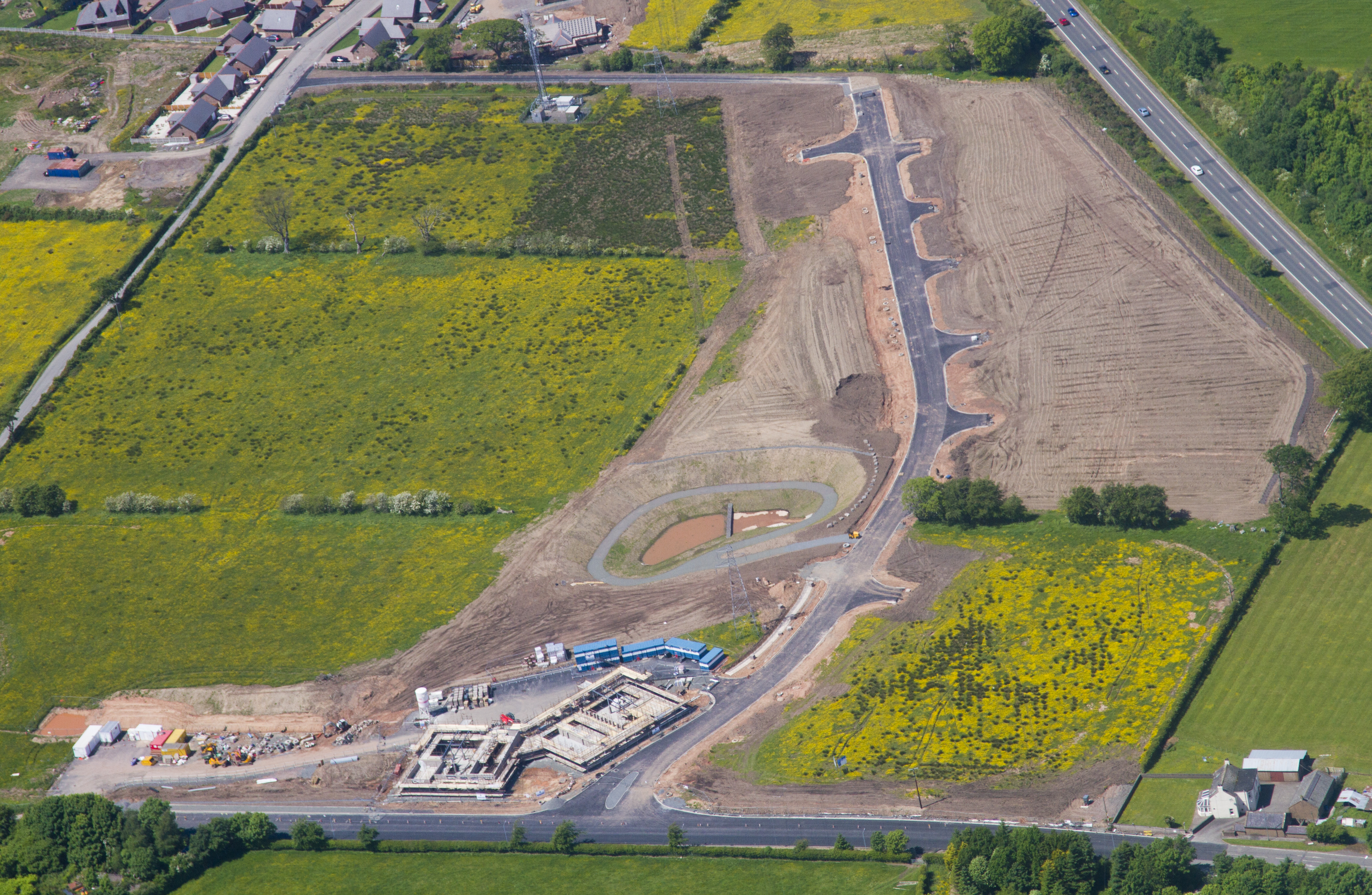 Aerial view of Annan Regional Business Park